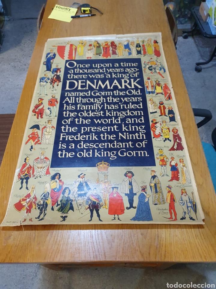 DENMARK, 100 CM X 63 CM. 1960. (Coleccionismo - Carteles Gran Formato - Carteles Turismo)
