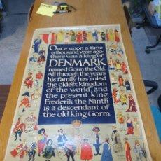 Carteles de Turismo: DENMARK, 100 CM X 63 CM. 1960.. Lote 200062921