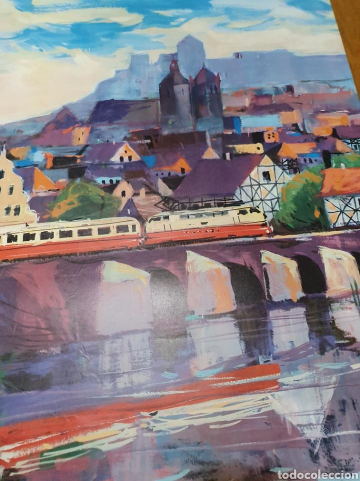 Carteles de Turismo: Alemania por ferrocarril, firmado, hansschmandt, 15/ 68, 100 cm x 62 - Foto 6 - 200064172