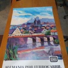 Carteles de Turismo: ALEMANIA POR FERROCARRIL, FIRMADO, HANSSCHMANDT, 15/ 68, 100 CM X 62. Lote 200064172