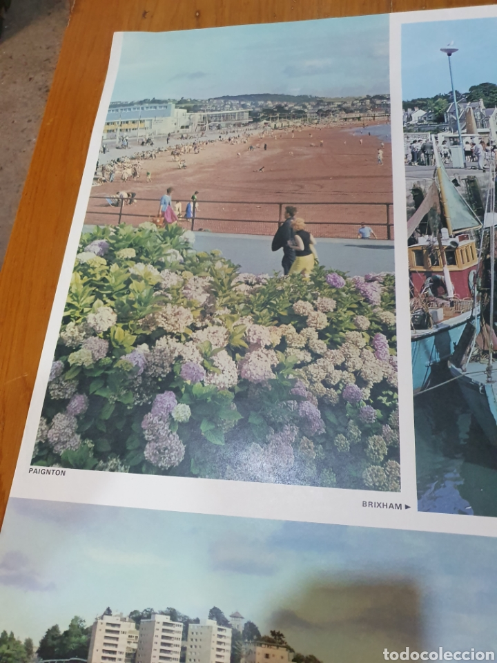 Carteles de Turismo: Britain, torbay, devons golden playground, 102 cm x 63 cm. - Foto 2 - 200065522