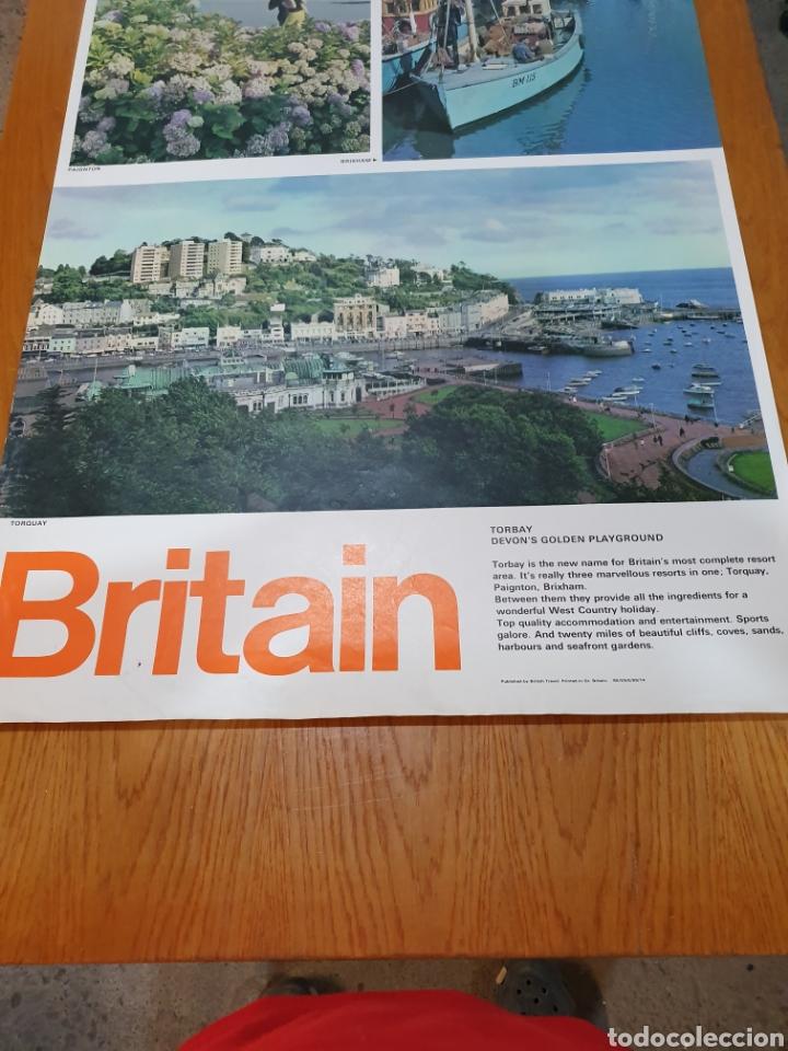 Carteles de Turismo: Britain, torbay, devons golden playground, 102 cm x 63 cm. - Foto 4 - 200065522