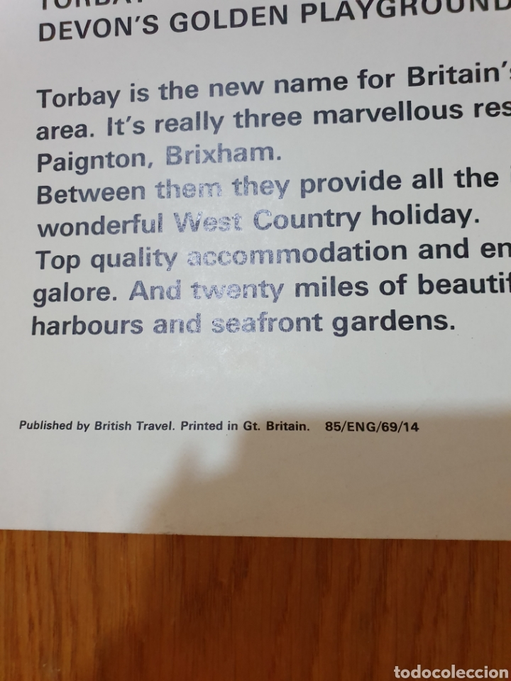 Carteles de Turismo: Britain, torbay, devons golden playground, 102 cm x 63 cm. - Foto 5 - 200065522