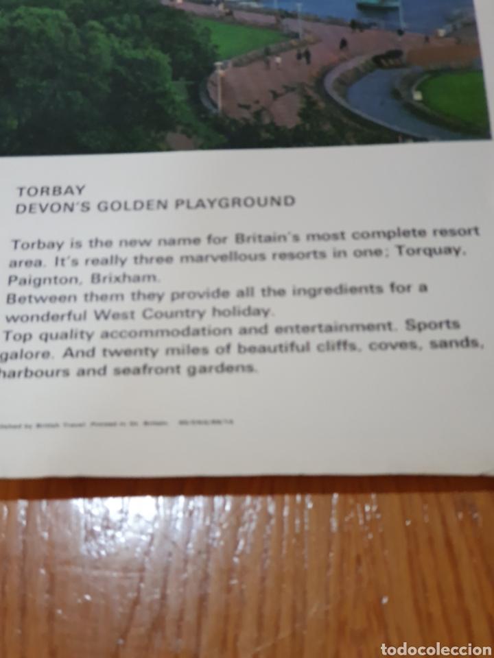 Carteles de Turismo: Britain, torbay, devons golden playground, 102 cm x 63 cm. - Foto 6 - 200065522