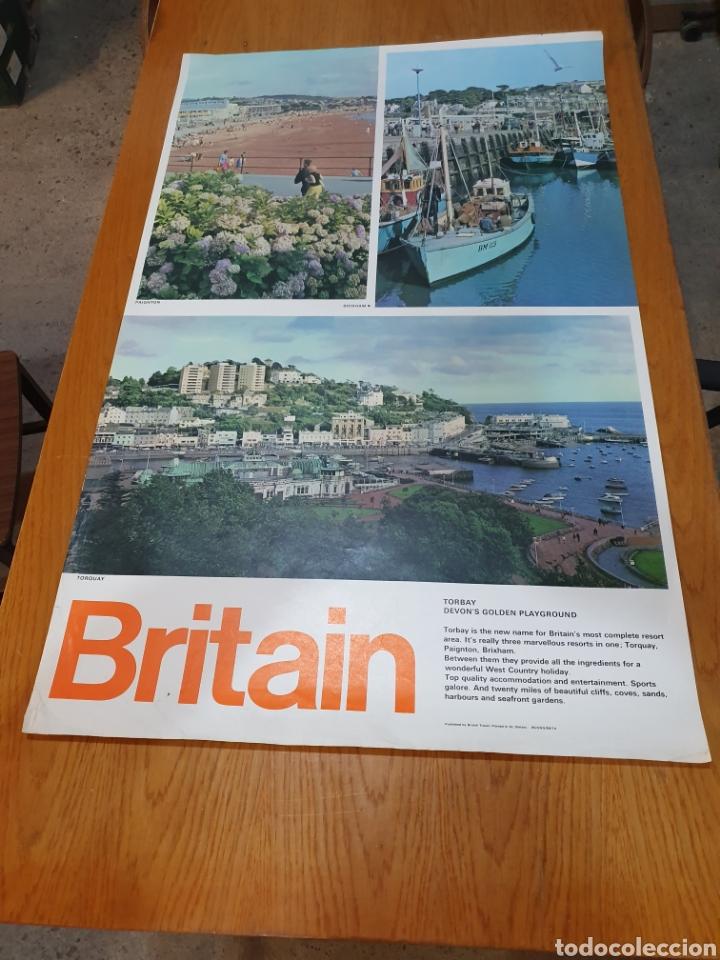 BRITAIN, TORBAY, DEVON'S GOLDEN PLAYGROUND, 102 CM X 63 CM. (Coleccionismo - Carteles Gran Formato - Carteles Turismo)
