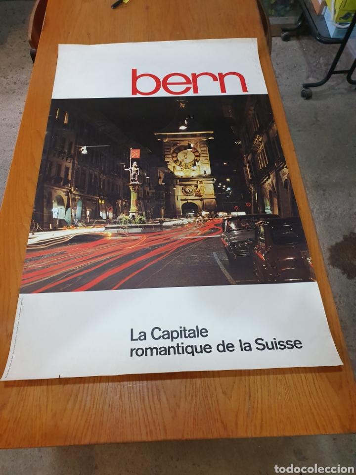 BERN, LA CAPITALE ROMANTIQUE DE LA SISE, AÑOS 70, 102 CM X 64 CM. (Coleccionismo - Carteles Gran Formato - Carteles Turismo)