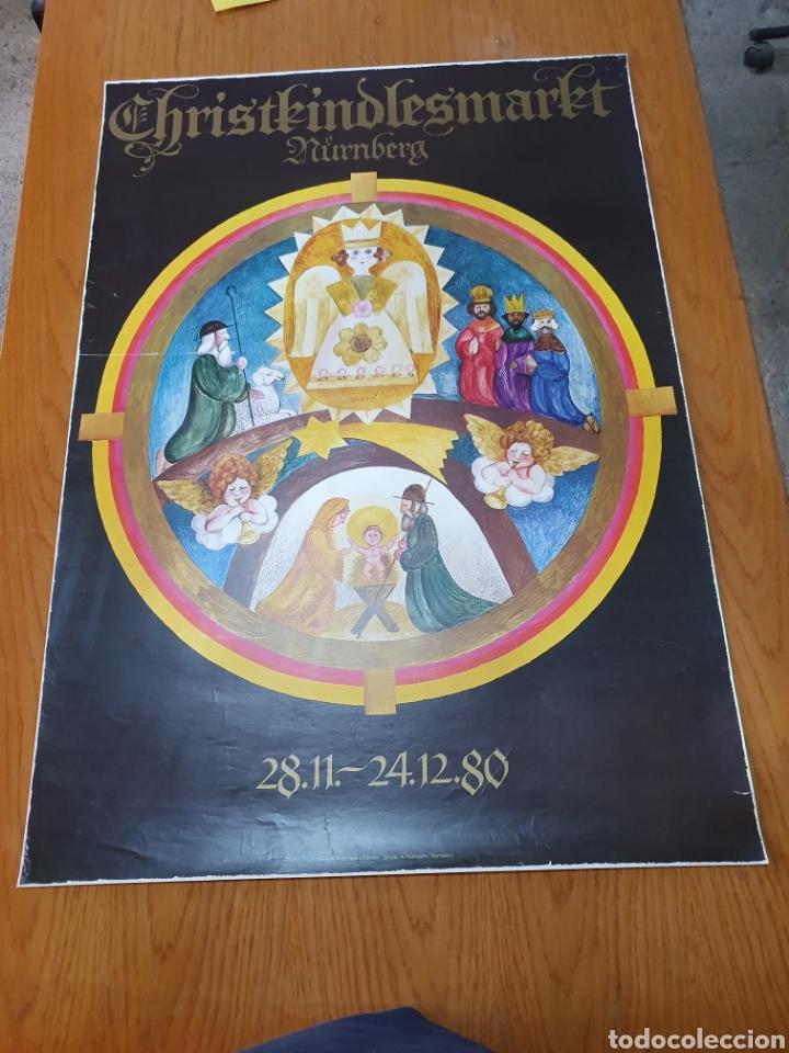 NUNBERG, CHRISTKINDLESMARKT, 84 CM X 59 CM, 1980. (Coleccionismo - Carteles Gran Formato - Carteles Turismo)