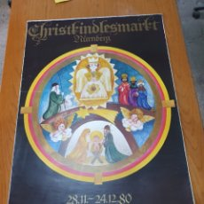 Carteles de Turismo: NUNBERG, CHRISTKINDLESMARKT, 84 CM X 59 CM, 1980.. Lote 200109375