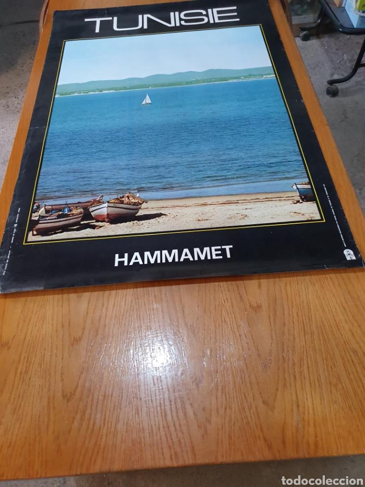 HAMMAMET, TUVISTE, 1973, 99 CM X 68 CM. (Coleccionismo - Carteles Gran Formato - Carteles Turismo)