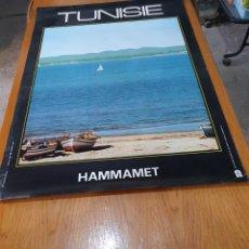 Carteles de Turismo: HAMMAMET, TUVISTE, 1973, 99 CM X 68 CM.. Lote 200116411