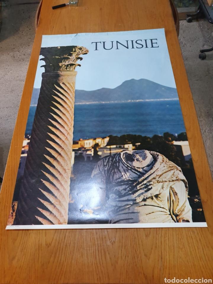 TUNISIE, DE LOS AÑOS 70, 98 CM X 64 CM. (Coleccionismo - Carteles Gran Formato - Carteles Turismo)