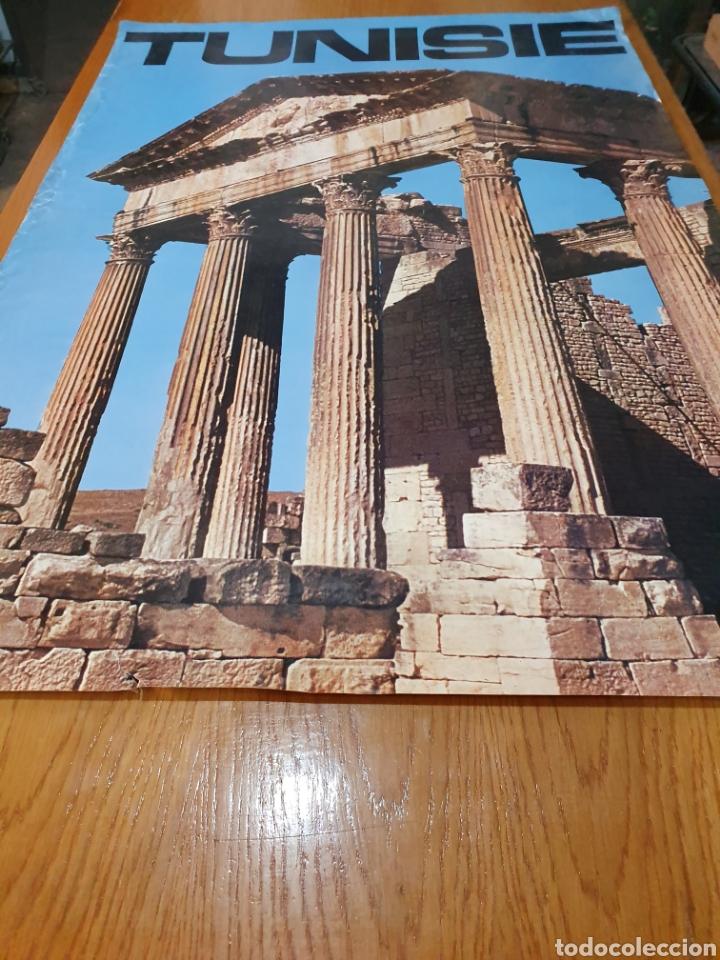 Carteles de Turismo: Tunisie, de los años 70, 100 cm x 70 cm. - Foto 2 - 200118355