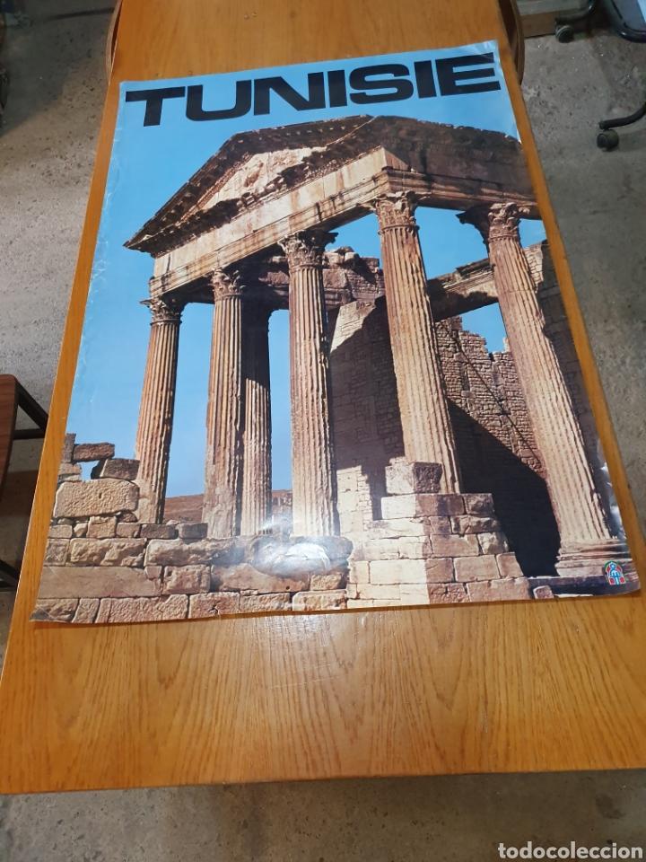 TUNISIE, DE LOS AÑOS 70, 100 CM X 70 CM. (Coleccionismo - Carteles Gran Formato - Carteles Turismo)