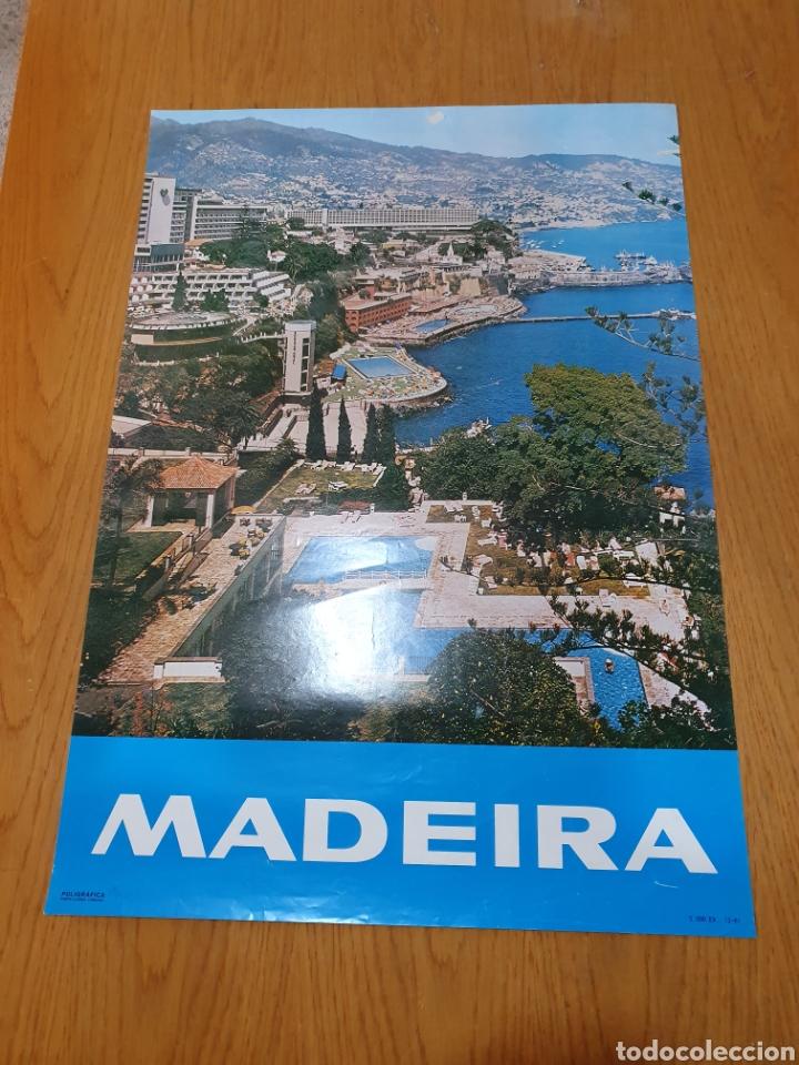 MADEIRA, DEL AÑO 1981, 68 CM X 48 CM. (Coleccionismo - Carteles Gran Formato - Carteles Turismo)