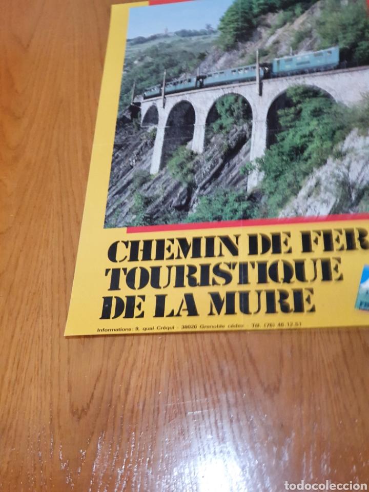 Carteles de Turismo: alpes, franceses, Chemin de fer touristique de la mure, 59 cm x 40. - Foto 2 - 200123526
