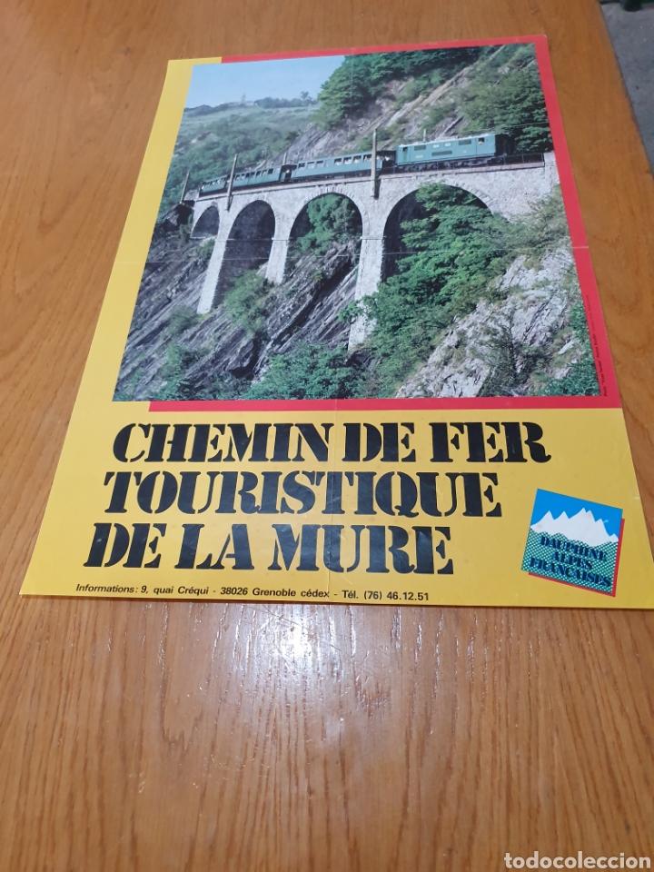 Carteles de Turismo: alpes, franceses, Chemin de fer touristique de la mure, 59 cm x 40. - Foto 3 - 200123526