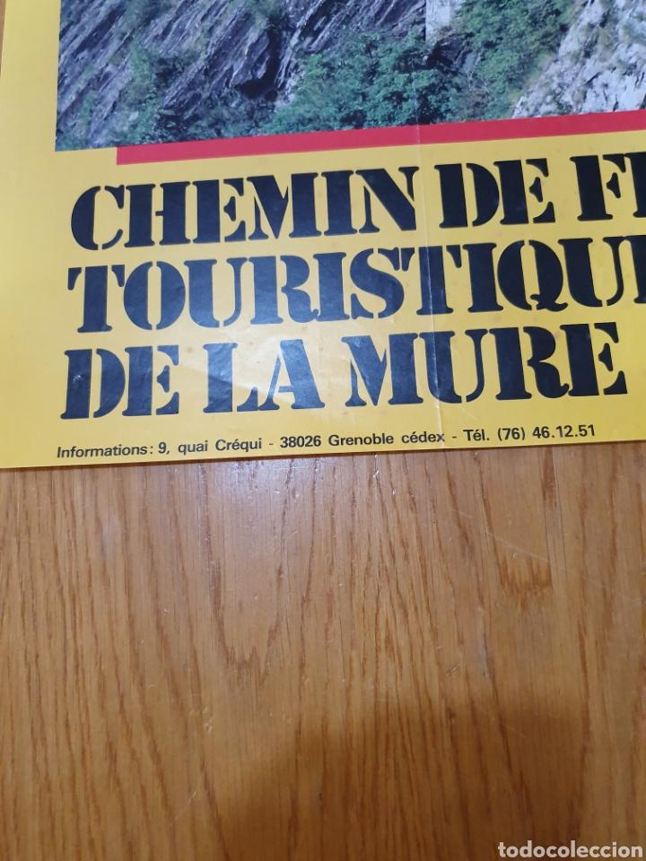 Carteles de Turismo: alpes, franceses, Chemin de fer touristique de la mure, 59 cm x 40. - Foto 4 - 200123526