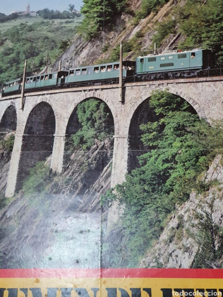 Carteles de Turismo: alpes, franceses, Chemin de fer touristique de la mure, 59 cm x 40. - Foto 6 - 200123526