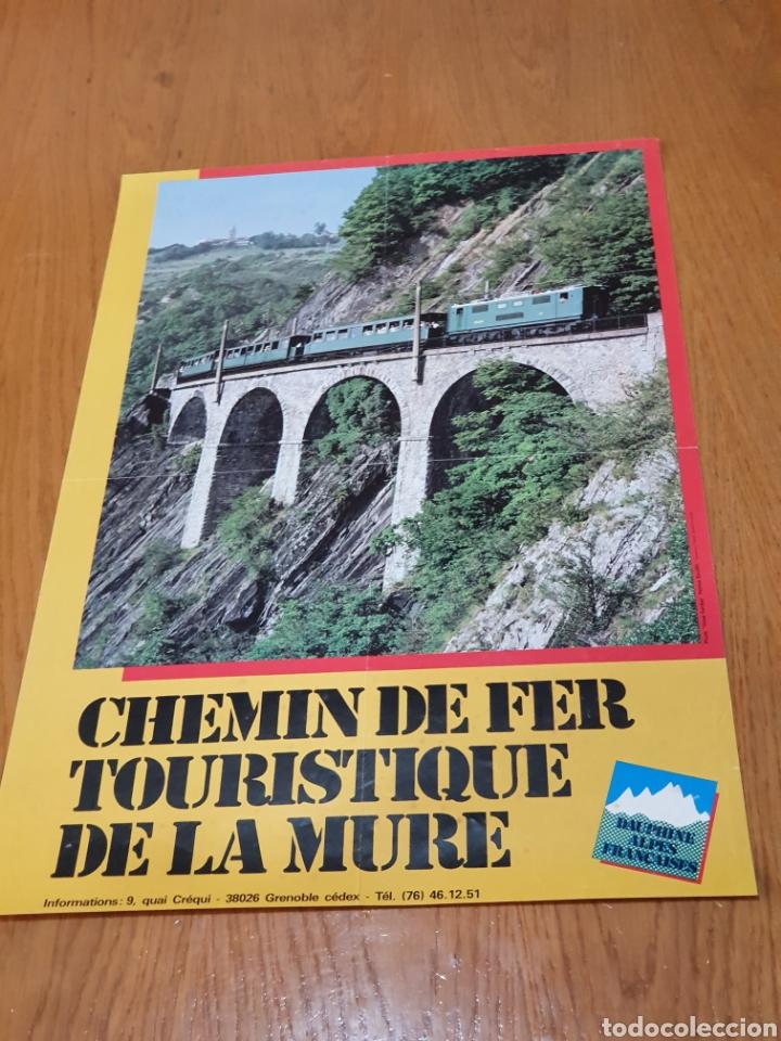 ALPES, FRANCESES, CHEMIN DE FER TOURISTIQUE DE LA MURE, 59 CM X 40. (Coleccionismo - Carteles Gran Formato - Carteles Turismo)
