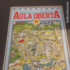 Carteles de Turismo: CARTEL BARCELONA AULA OBERTA. DIBUJO MAX - JORDI CAPDEVILA. AÑO 1984. Lote 246428760