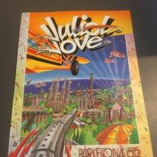 Affissi di Turismo: CARTEL JULIOL JOVE BARCELONA 1985. Lote 201280303