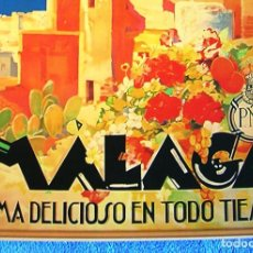 Carteles de Turismo: CARTEL POSTER RETRO - MALAGA, ANDALUCIA - CLIMA DELICIOSO EN TODO TIEMPO - PNT REPUBLICA ESPAÑOLA. Lote 221925993