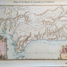 Carteles de Turismo: MAPA DE LOS REINOS DE GRANADA Y ANDALUCIA.REPRODUCCION DE G.ROSSI,1696. Lote 205316341