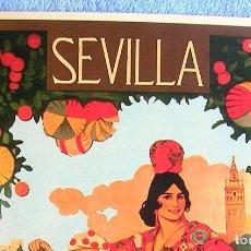 Carteles de Turismo: CARTEL POSTER RETRO - SEVILLA SEMANA SANTA Y FERIA 1919 - ANDALUCIA. Lote 205660782