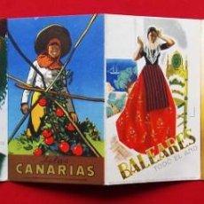 Carteles de Turismo: COLORES DE ESPAÑA. AÑOS 50. DESPLEGABLE COMPLETO. POSTALES. CARTELES. DIRECCIÓN GENERAL DE TURISMO.. Lote 207104416