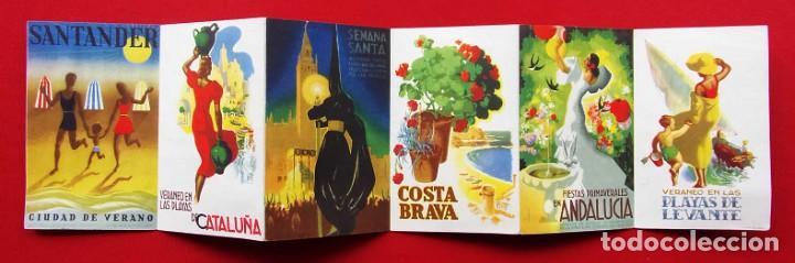 Carteles de Turismo: COLORES DE ESPAÑA. AÑOS 50. DESPLEGABLE COMPLETO. POSTALES. CARTELES. DIRECCIÓN GENERAL DE TURISMO. - Foto 2 - 207104416