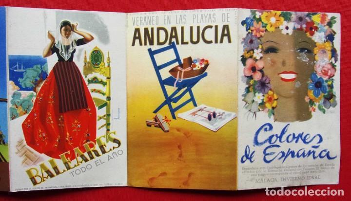 Carteles de Turismo: COLORES DE ESPAÑA. AÑOS 50. DESPLEGABLE COMPLETO. POSTALES. CARTELES. DIRECCIÓN GENERAL DE TURISMO. - Foto 4 - 207104416