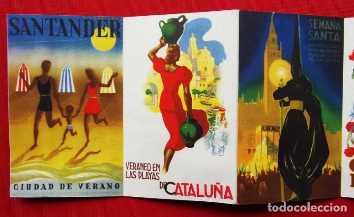 Carteles de Turismo: COLORES DE ESPAÑA. AÑOS 50. DESPLEGABLE COMPLETO. POSTALES. CARTELES. DIRECCIÓN GENERAL DE TURISMO. - Foto 5 - 207104416