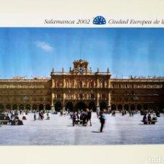Carteles de Turismo: CARTEL O PÓSTER DE LA PLAZA MAYOR DE SALAMANCA. CIUDAD EUROPEA DE LA CULTURA. CASTILLA Y LEÓN. 2002.. Lote 207390410