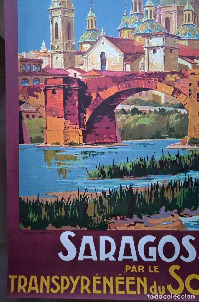 Carteles de Turismo: Champseix. Chemins de fer. Espagne. Saragosse. Zaragoza. Somport. Litográfico - Foto 6 - 207399570