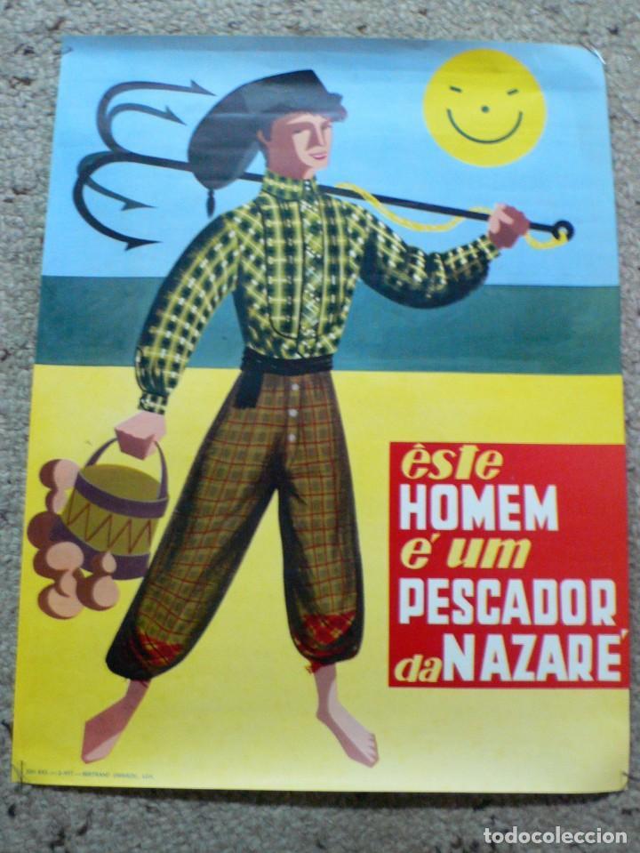 ANTIGUO CARTEL NAZARÉ (PORTUGAL) (Coleccionismo - Carteles Gran Formato - Carteles Turismo)