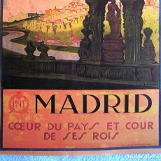 Carteles de Turismo: CARTEL POSTER RETRO - MADRID - VISITE ESPAÑA - PATRONATO NACIONAL DE TURISMO REPUBLICA ESPAÑOLA. Lote 296043653