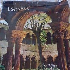 Carteles de Turismo: CARTEL MONASTERIO RIPOLL GERONA. AÑOS 60. 98 X 62 CM. MUY RARO. Lote 208886016