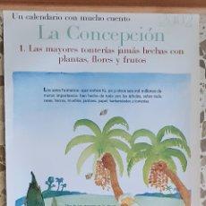 Carteles de Turismo: CARTEL CALENDARIO JARDIN BOTANICO LA CONCEPCION MALAGA.IDEA Y TEXTO J.A.DEL CAÑIZO.DIBUJO C.PELAEZ. Lote 209749690
