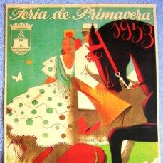 Carteles de Turismo: CARTEL POSTER RETRO - PUERTO DE SANTA MARIA, CADIZ - ANDALUCIA - FERIA DE PRIMAVERA AÑO 1953. Lote 210419976