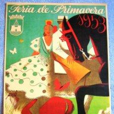 Carteles de Turismo: CARTEL POSTER RETRO - PUERTO DE SANTA MARIA, CADIZ - ANDALUCIA - FERIA DE PRIMAVERA AÑO 1953. Lote 210790844