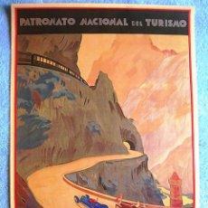 Carteles de Turismo: CARTEL POSTER ASTURIAS - PATRONATO NACIONAL DE TURISMO LA REPUBLICA ESPAÑOLA...PAISAJES LEGENDARIOS. Lote 244656255