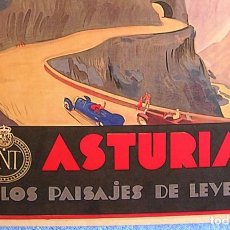Carteles de Turismo: CARTEL POSTER ASTURIAS - PATRONATO NACIONAL DE TURISMO LA REPUBLICA ESPAÑOLA...PAISAJES LEGENDARIOS. Lote 288329433