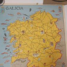 Carteles de Turismo: MAPA DE GALICIA REGISTRO N 10.494 1971. Lote 216568700