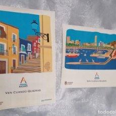 Carteles de Turismo: LOTE DE 2 CARTELES: ALICANTE, VEN CUANDO QUIERAS · AYUNTAMIENTO DE ALICANTE - ©97 -. Lote 217976291