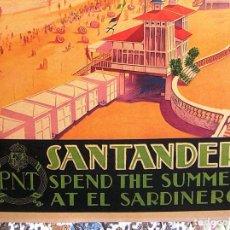 Carteles de Turismo: CARTEL POSTER SANTANDER- SARDINERO - CANTABRIA - PATRONATO NACIONAL TURISMO DE LA REPUBLICA ESPAÑOLA. Lote 217977703