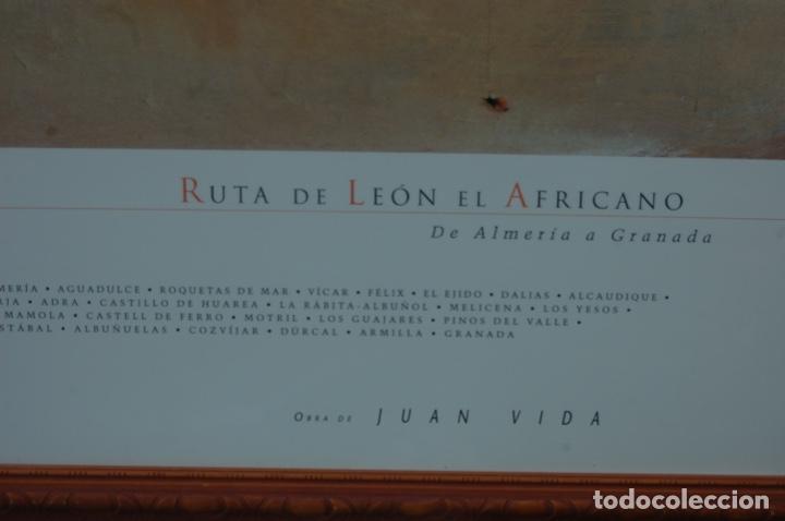 Carteles de Turismo: Juan Vida. Póster de la Ruta de León el Africano. De Almería a Granada.Bien enmarcado 107x76 - Foto 4 - 220718097