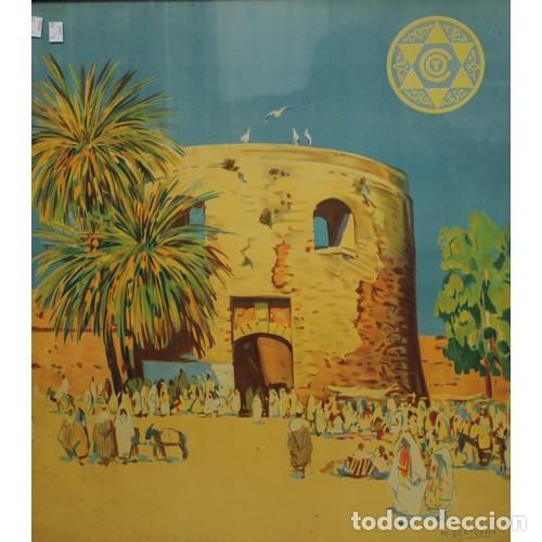 Carteles de Turismo: MARIANO BERTUCHI. 2 IMPRESIONES A COLOR. CARTELES TURÍSTICOS PUBLICIDAD. 67X61. ENMARCADO NUEVO. - Foto 3 - 221004467