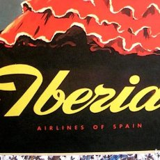Carteles de Turismo: CARTEL POSTER RETRO VINTAGE - VENTANAS DE ANDALUCIA - VUELE CON IBERIA LINEAS AEREAS DE ESPAÑ. Lote 221642972