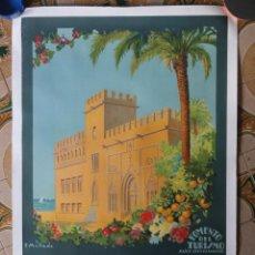 Carteles de Turismo: CARTEL VALENCIA SOBERANA DE LA NATURALEZA - LONJA - MELLADO - 1920 1930 - FOMENTO DEL TURISMO. Lote 221685708