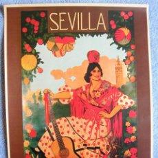Carteles de Turismo: CARTEL POSTER RETRO - SEVILLA SEMANA SANTA Y FERIA 1919 - ANDALUCIA. Lote 221749887